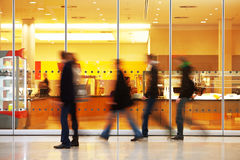 Intentional Blurred Image of People in Shopping Center Stock Photos