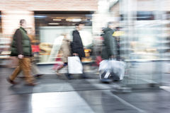 Intentional Blurred Image of People in Shopping Center Royalty Free Stock Photo