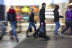 Intentional blurred image of people in shopping center Stock Photography