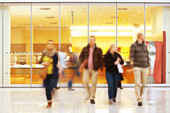 Intentional Blurred Image of People in Shopping Center Stock Photo