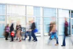 Intentional Blurred Image of Young People in Office Building Stock Photography