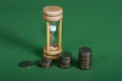 Interés compuesto con tiempo imágenes de archivo libres de regalías