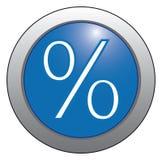 Interés del icono en un fondo azul. Imagen de archivo libre de regalías