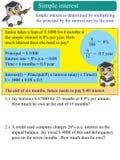 Interés simple de las matemáticas Imagen de archivo