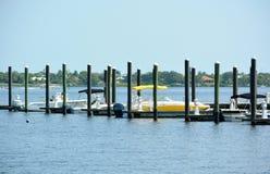 Inter-coastal Boat Dock Stock Photography