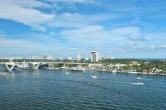 Inter coastal waterway in Fort Lauderdale, Florida Stock Photos