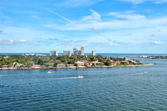 Inter coastal waterway in Fort Lauderdale, Florida Royalty Free Stock Photography