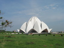 Inter Faith Bahai Lotus Temple New Delhi India Stock Photos