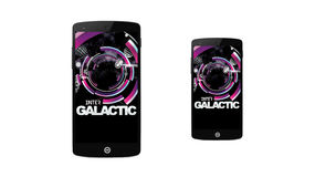 Inter Galactic app concept Smart Phone Royalty Free Stock Photos