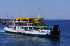 Inter-island ferry. Ferry crossings between the islands of Java and Bali island of Indonesia Stock Photo