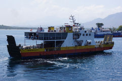 Inter-island ferry. Ferry crossings between the islands of Java and Bali island of Indonesia Royalty Free Stock Photos