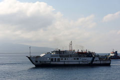 Inter-island ferry. Ferry crossings between the islands of Java and Bali island of Indonesia Royalty Free Stock Photo