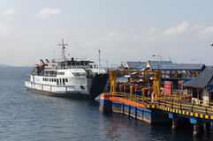 Inter-island ferry. Ferry crossings between the islands of Java and Bali island of Indonesia Stock Photos