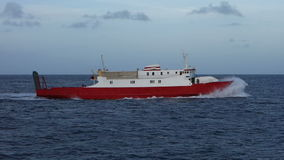 An inter-island ferry in the grenadines stock video