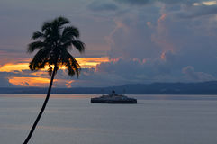 Inter island ferry in Vanua Levu Fiji Royalty Free Stock Images