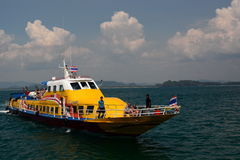Inter islands ferry boat. Koh Mook. Thailand Stock Photos