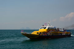 Inter islands ferry boat. Koh Mook. Thailand Royalty Free Stock Image