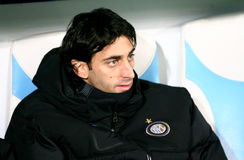 Inter Milan's Diego Milito. During the Champions League soccer match OM vs Internazionale Milano FC. OM won 1 - 0. At the Velodrome Stadium in Marseille, south Stock Photo