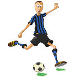 Inter Milan soccer player Royalty Free Stock Images