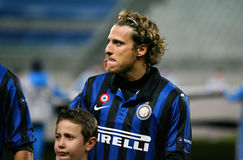 Inter Milano's Diego Forlan Royalty Free Stock Photo