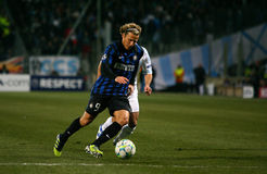 Inter Milano's Diego Forlan Royalty Free Stock Photography