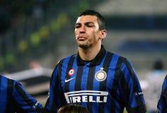 Inter Milano's Lucio Royalty Free Stock Photography