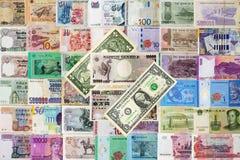 Inter nationale geldenachtergrond Royalty-vrije Stock Fotografie