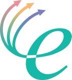 Inter net logo. Isolated inter net illustrated logo design royalty free illustration