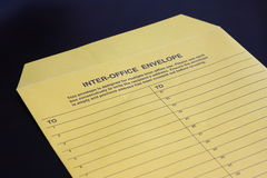 Inter-office envelop Royalty-vrije Stock Afbeelding