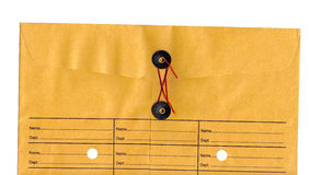 Inter-Office Envelope. Inter-office paper envelope with string closure Stock Photo