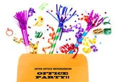Inter-office omslag met partijgunsten Stock Afbeelding