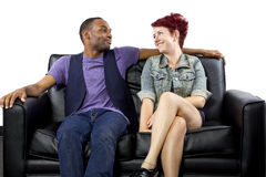 Inter-Racial Couple Stock Photo