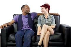 Inter-Racial Paar stock foto