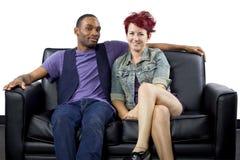 Inter-Racial Paar royalty-vrije stock foto