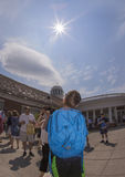 Interação com o eclipse solar de 2017 Imagem de Stock