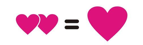 Interação cor-de-rosa do coração Fotos de Stock Royalty Free