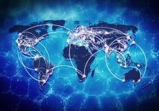 Interação global Imagens de Stock