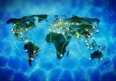 Interação global Imagens de Stock Royalty Free