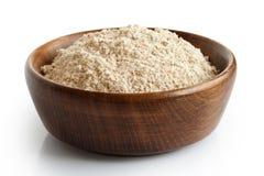 Intera farina compitata del grano Fotografia Stock