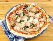 Intera pizza rustica Immagine Stock Libera da Diritti