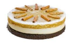 Intera torta di compleanno della mela Fotografie Stock