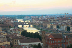 Intera vista di Firenze Fotografia Stock