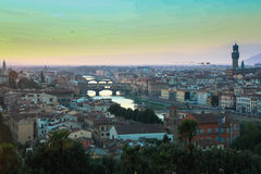 Intera vista di Firenze Fotografie Stock