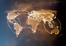 Interacción global fotos de archivo