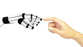 Interacción humana de la máquina Imagen de archivo libre de regalías