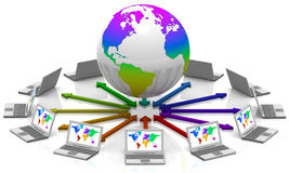Interacción mundial Imagen de archivo libre de regalías