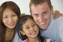 Interacial Family of three Royalty Free Stock Photography