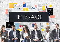 Interact Communication Connection Corporate Concept. Corporate Business Interact Communication Concept Stock Photos