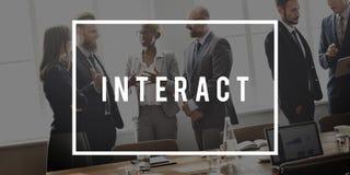 Interact Insight Improvement Ideas Knowledge. People Discuss Interact Insight Improvement Ideas Knowledge Royalty Free Stock Photos