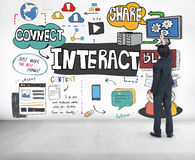 Interact Interactive Connection Interface Multimedia Concept Stock Images